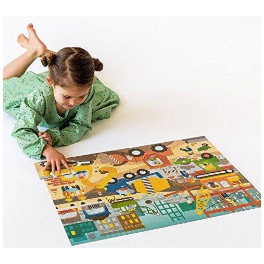 Petit Collage Construction Site Floor Puzzle
