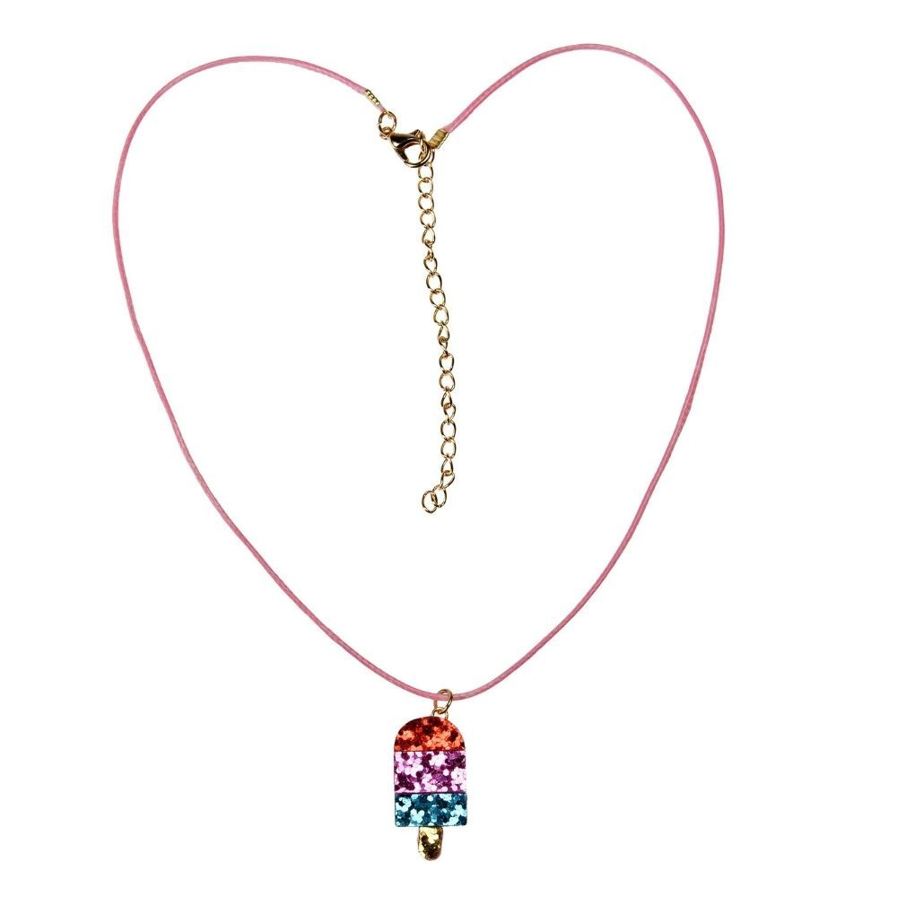 Rex London Ice Lolly Glitter Necklace