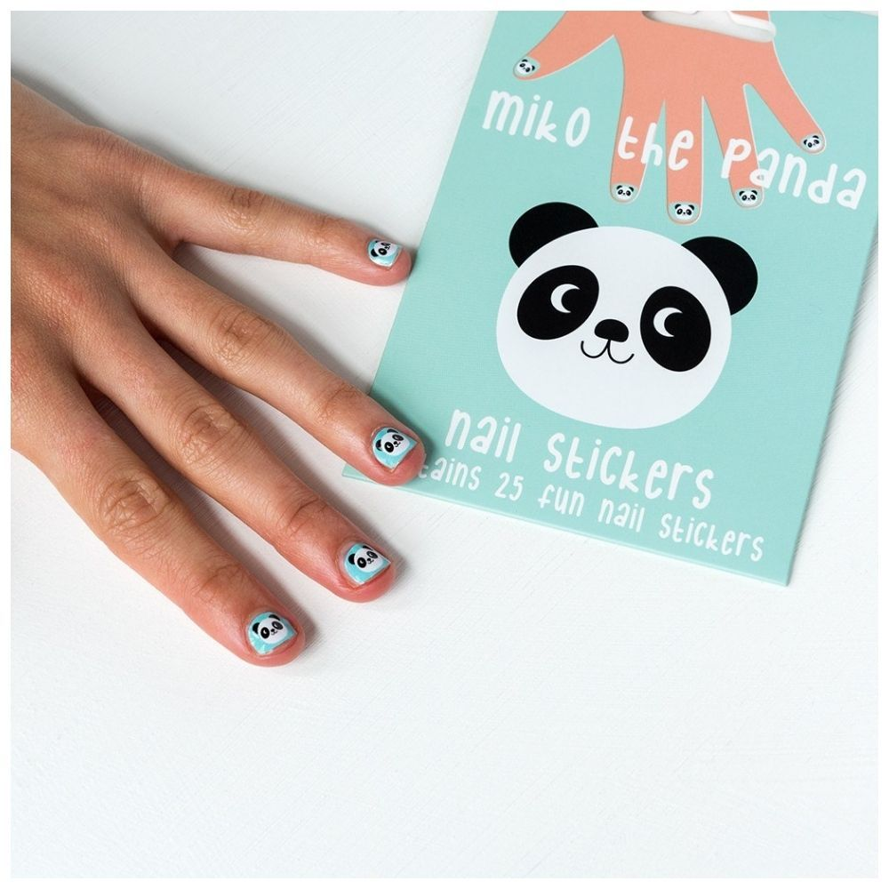 Rex London Miko the Panda Nail Stickers 28338