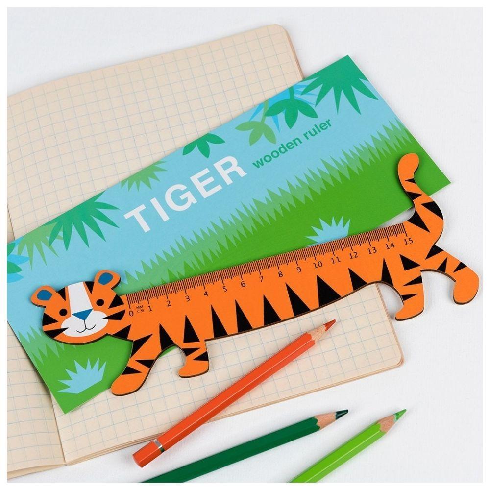 Rex London Tiger Wooden Ruler 28432