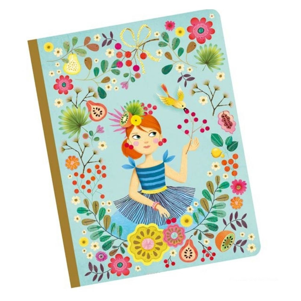 Rose Notebook - Djeco Stationery