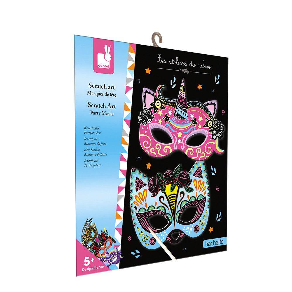 Janod Scratch Art - Party Masks