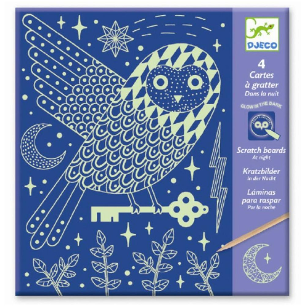 Djeco Scratch Boards - At Night