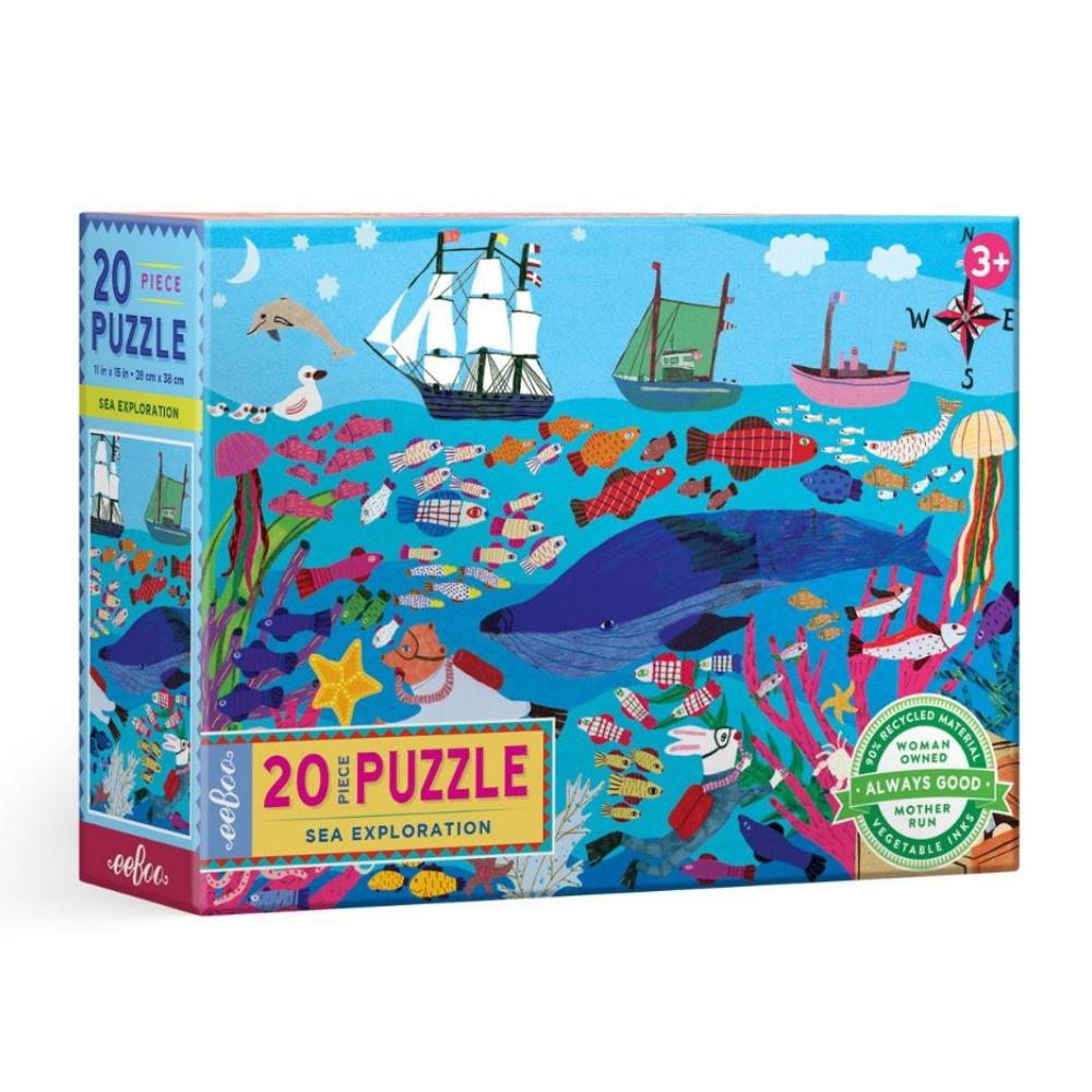 Eeboo Sea Exploration 20 piece puzzle