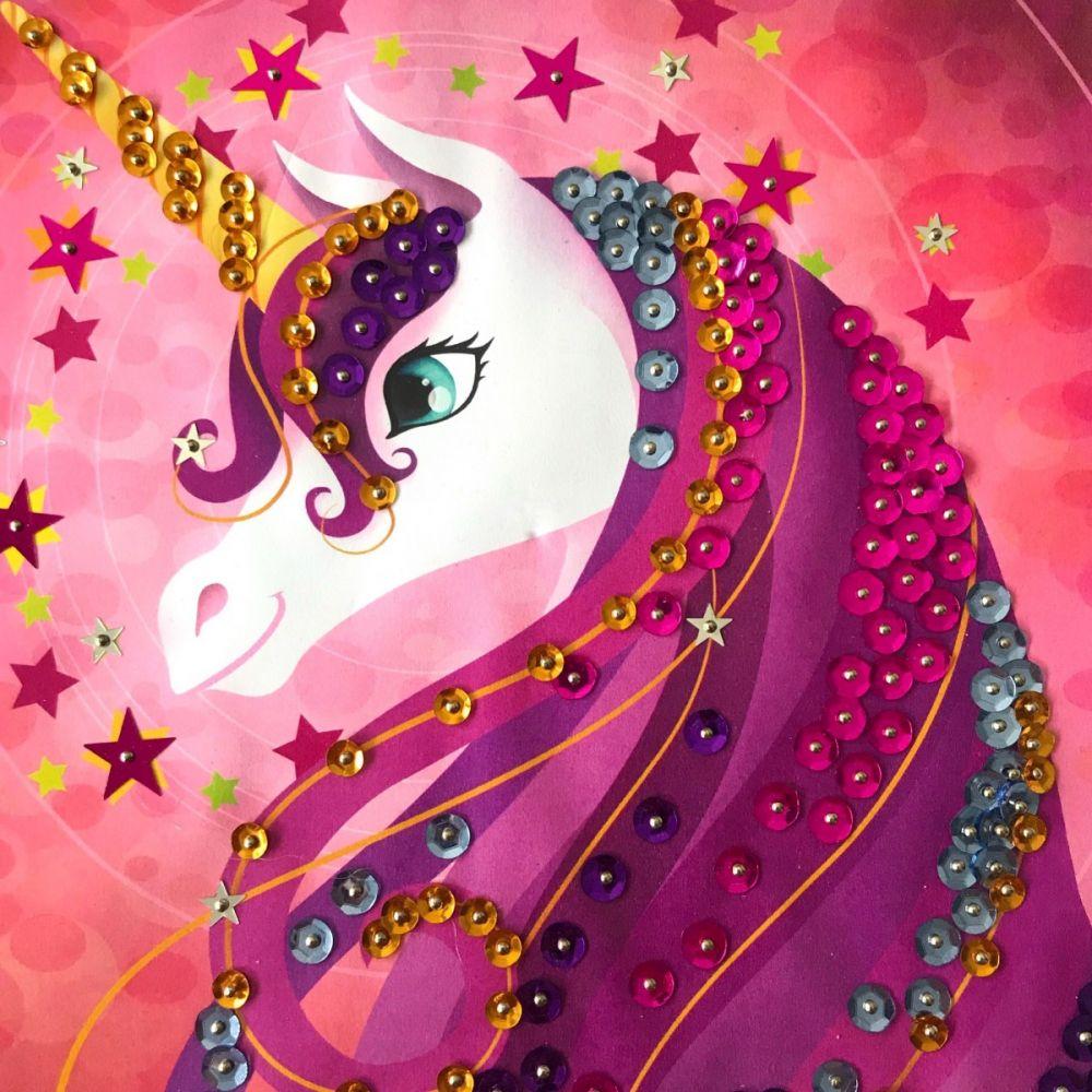 Sentosphere Sequin Art Unicorn