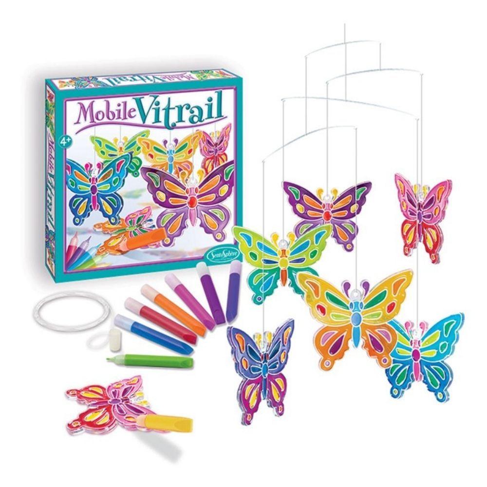 Sentosphere Stained Glass Butterfly Mobile Ref 243