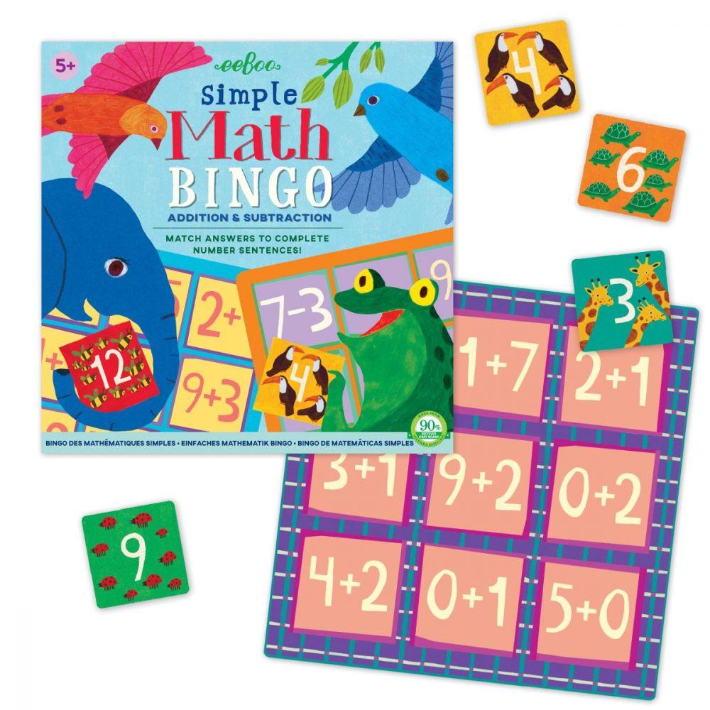 Eeboo Simple Maths Bingo