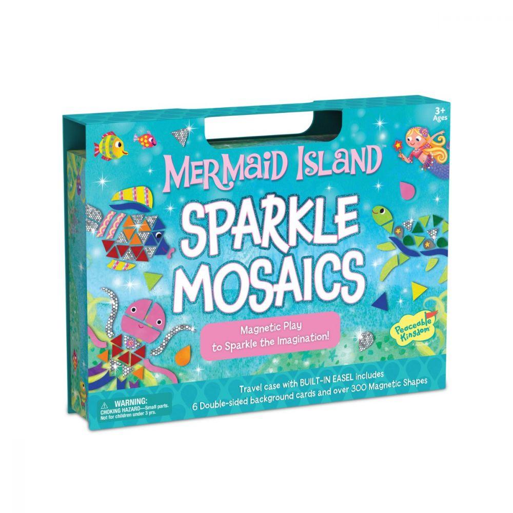 Peaceable Kingdom Mermaid Island Sparkle Mosaics