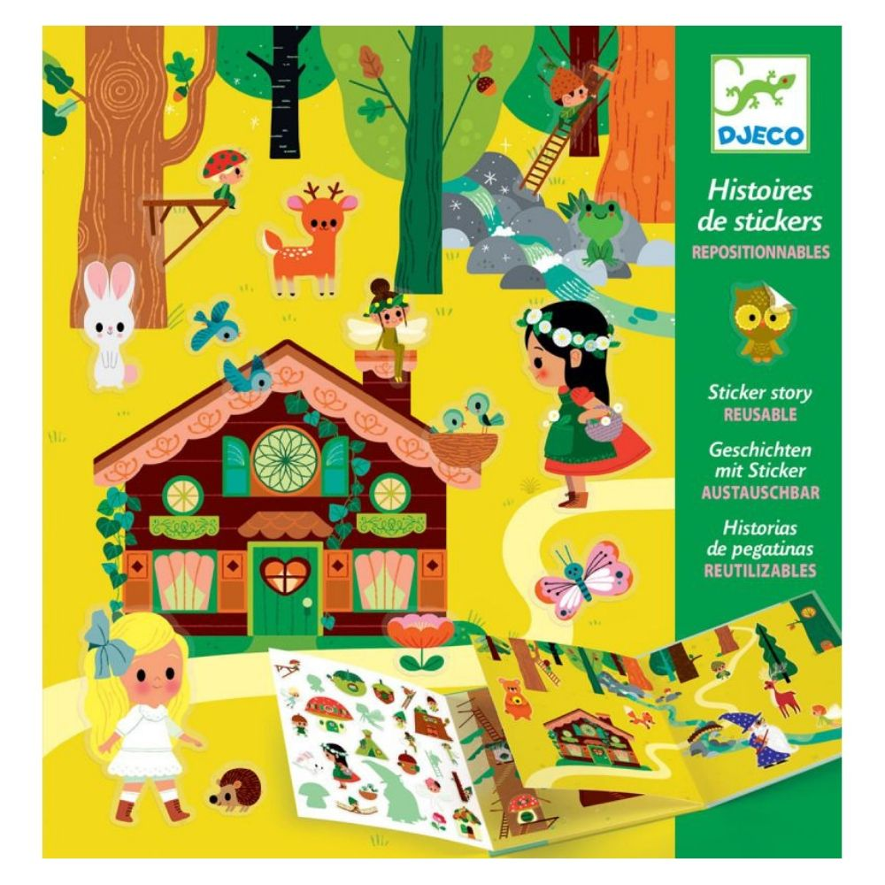 Djeco Sticker Stories - The Magical Forest