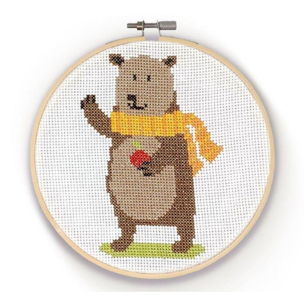 The Crafty Kit Co Cross Stitch Bear