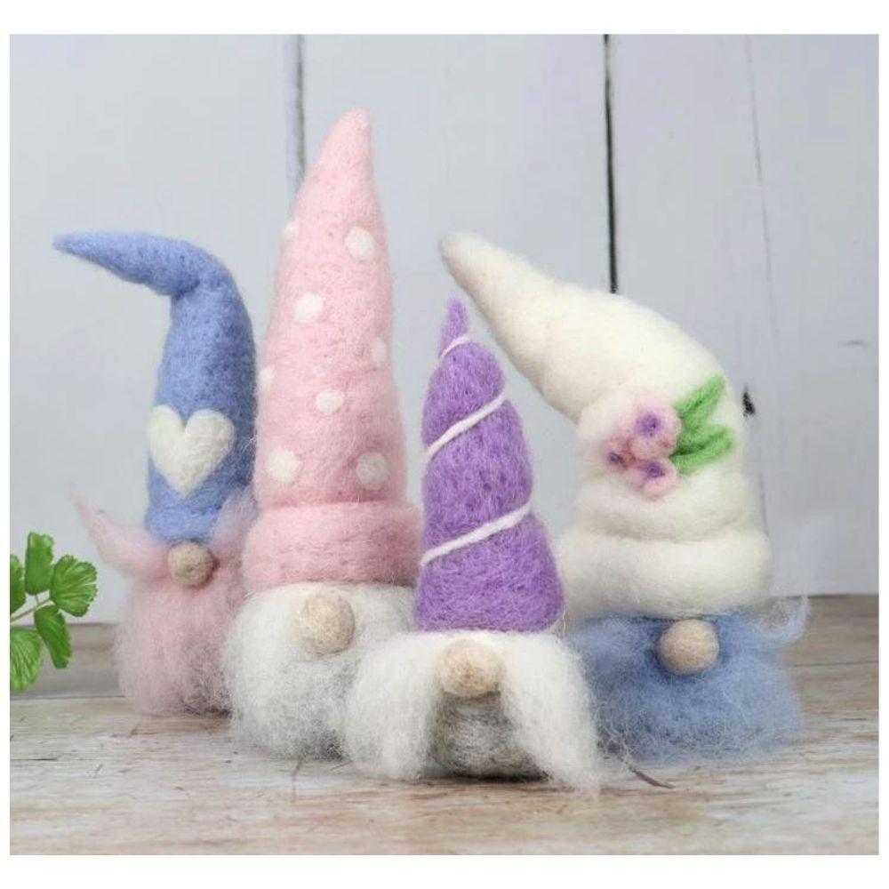 The Crafty Kit Co, Needle Felting Kit - Spring Gnomes