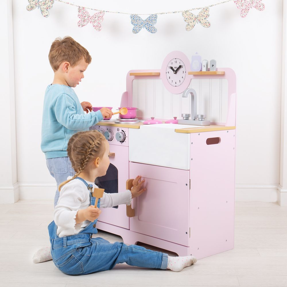 Bigjigs Country Play Kitchen - Pink