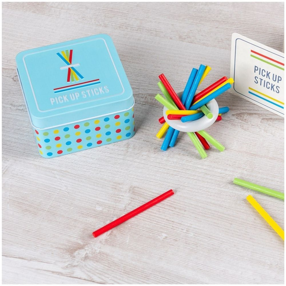 Wooden Pick Up Sticks In A Tin 29144
