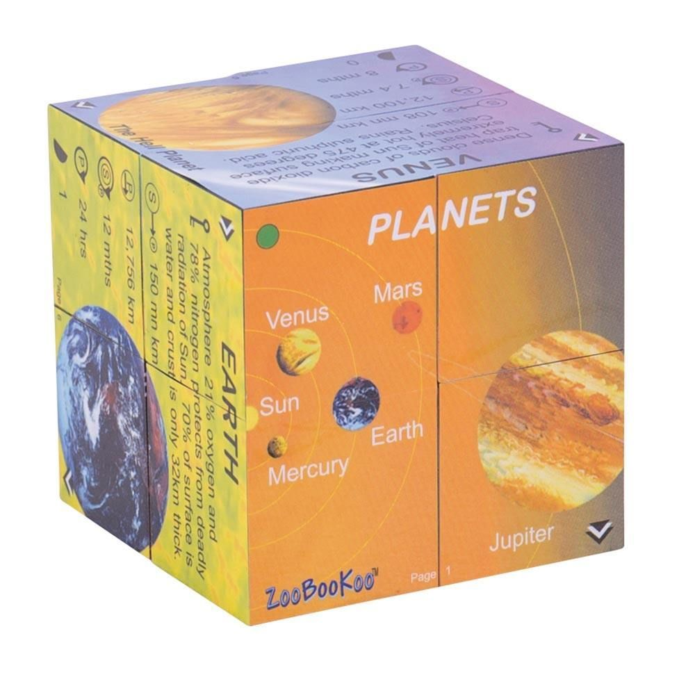 ZooBooKoo Planets and Solar Systems Stats Cube Book