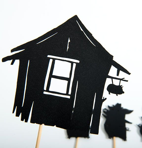 Moulin Roty - The Three Little Pigs Shadow Puppets