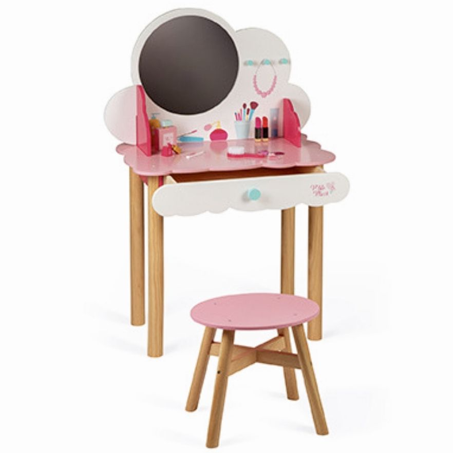Janod P'tite Miss Wooden Dressing Table, Stool & Accessories