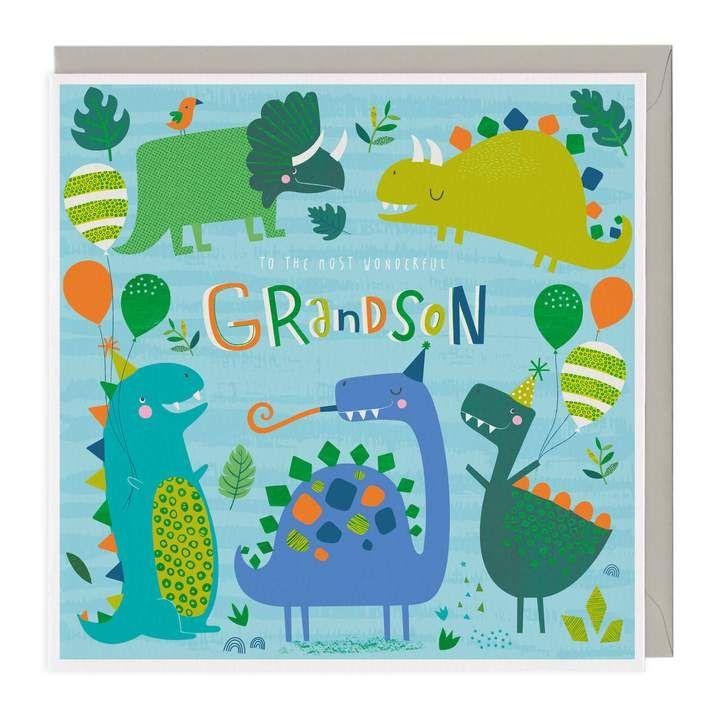 To A Wonderful Grandson Birthday Card