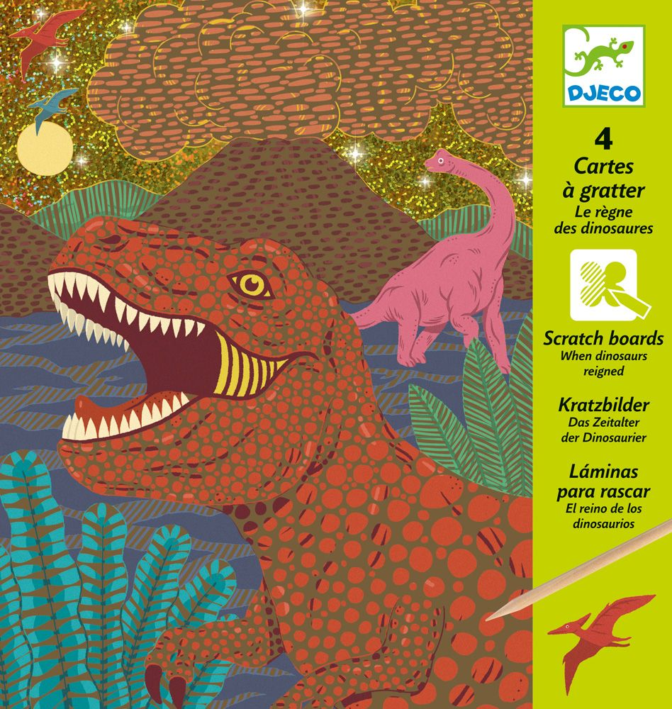 When Dinosaurs Reigned - Djeco Scratch Cards