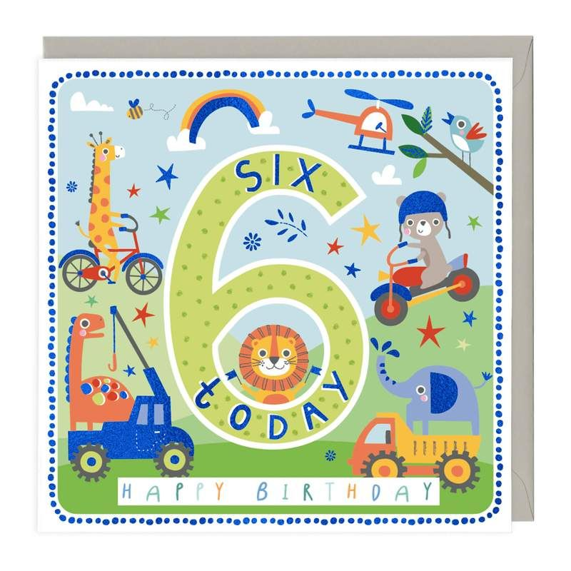 6th Birthday Card