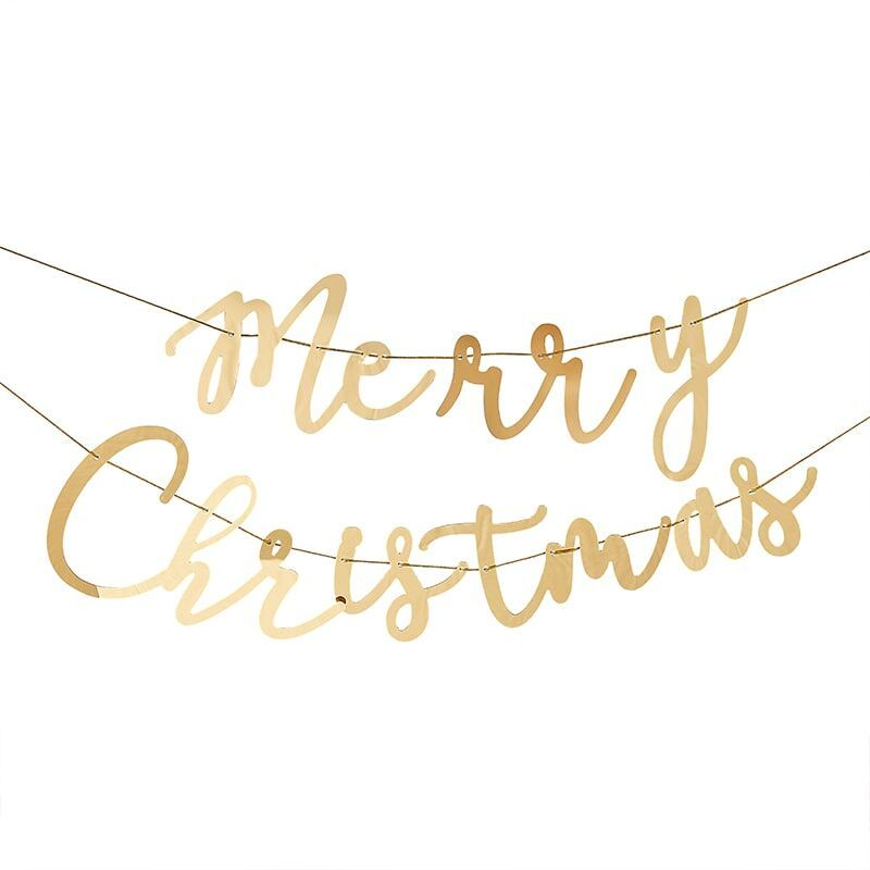 Ginger Ray Merry Christmas Gold Bunting