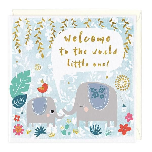 """""""Welcome To The World"""" New Baby Card"""