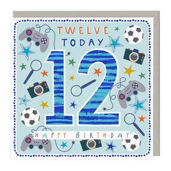 12th Birthday Card - Fun Games