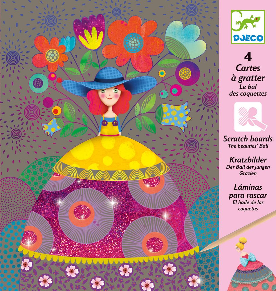 The Beauties' Ball - Djeco Scratch Cards
