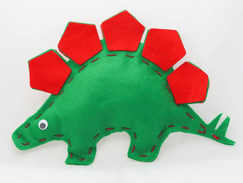 Buttonbag First Sewing Kit - Stegosaurus