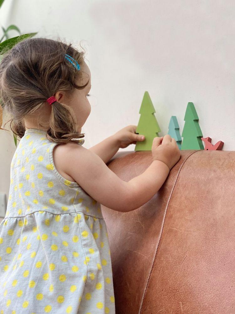 Tender Leaf Toys Fir Tree Tops Train Set Accessory