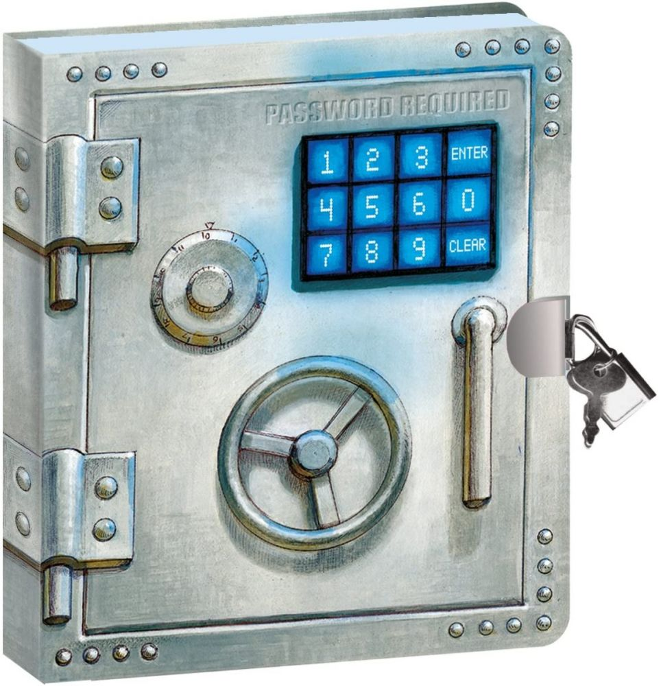 Password Required Lock and Key Diary