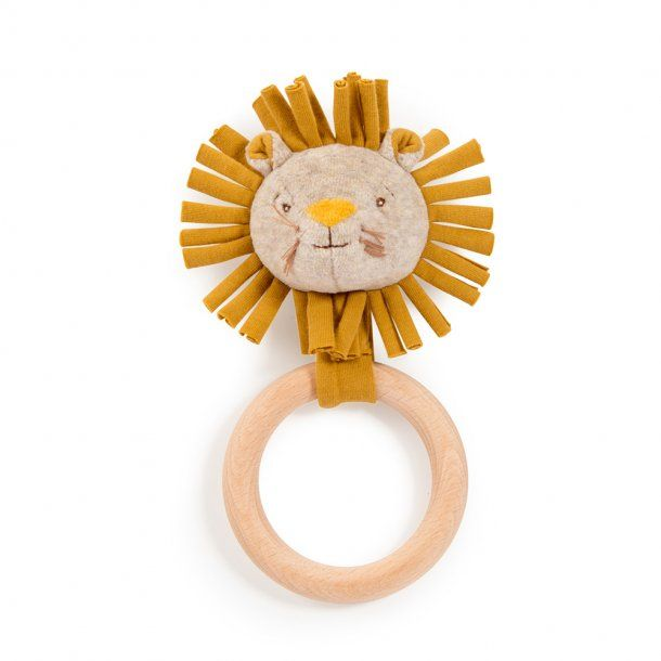 Moulin Roty Wooden Lion Ring Rattle - Sous Mon Baobab
