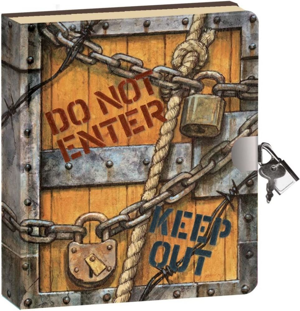 Keep Out Lock and Key Diary