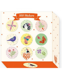 100 Chic Stickers - Djeco Stationery