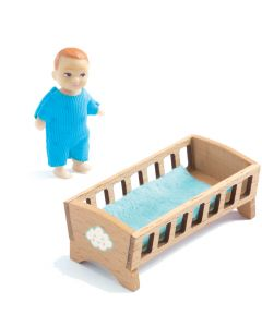 Djeco Dolls House Petit Home - Baby Sacha