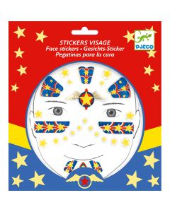 Djeco Face Stickers Kit - Super Hero