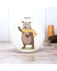 The Crafty Kit Co Cross Stitch Bear