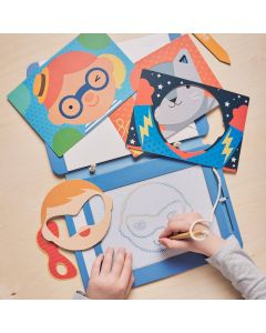 Petit Collage Magic Sketch Book - Funny Faces