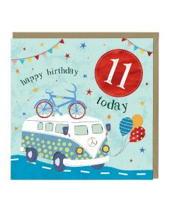 11th Birthday Card - Camper Van