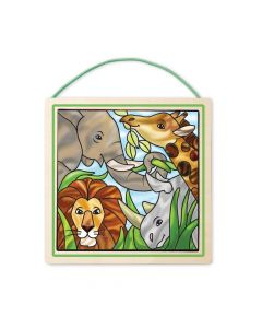 Melissa & Doug Stained Glass Safari Animals