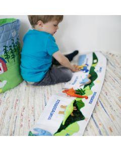 Oskar & Ellen Soft Dinosaur Book