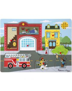 Melissa and Doug Sound Puzzle - Around the Fire Station