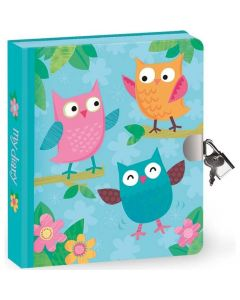 Owl Lock and Key Diary