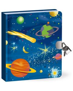 Peaceable Kingdom Deep Space Locked Diary