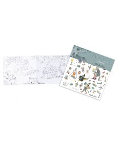 Moulin Roty Transfers - Wolf - save 70%
