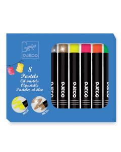 8 Oil Pastels - Pop colours by Djeco - SAVE 20%