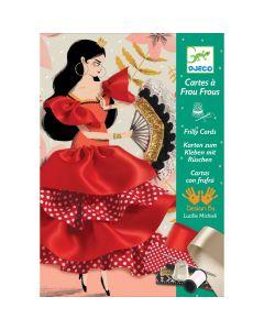 Sew a Flamenco Dancer - Frilly Cards by Djeco - SAVE 20%