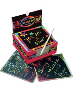 Scratch Art Box of Rainbow Mini Notes
