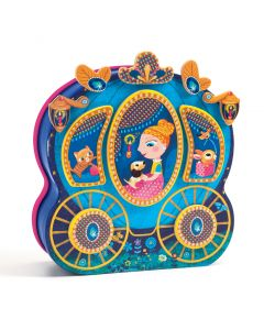 Wooden Princess Carriage Magnetics - InZeBox Carossimo by Djeco