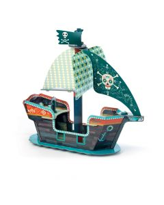 Pirate Boat 3D Pop to Play by Djeco