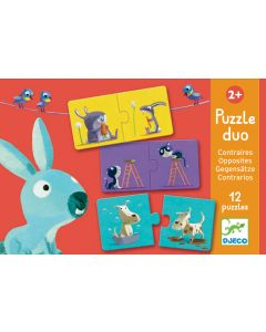 Educational Toddler Puzzle Duo - Opposites by Djeco